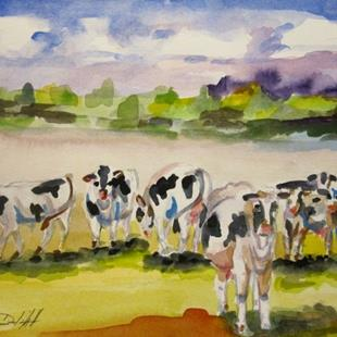 Art: When the Cows Come Home by Artist Delilah Smith