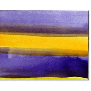 Art: Purple and yellow ACEO by Artist victoria kloch