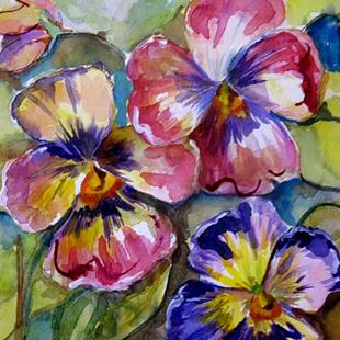 Art: Pansies No. 2 by Artist Delilah Smith