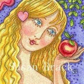 Art: EVE'S FRUIT OF THE MONTH by Artist Susan Brack