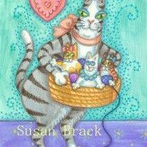 Art: Hiss N' Fitz - BASKET FULL OF MISCHIEF by Artist Susan Brack