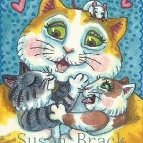 Art: HUGS AND KISSES by Artist Susan Brack