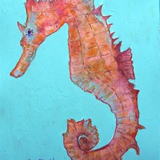 Art: Seahorse # 2 by Artist Ulrike 'Ricky' Martin