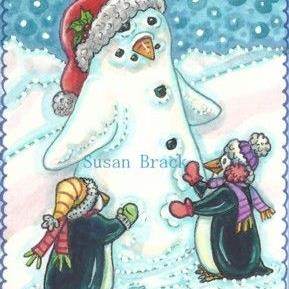 Art: SNOW PENGUIN by Artist Susan Brack