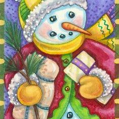 Art: BRINGING GIFTS OF GOOD CHEER by Artist Susan Brack
