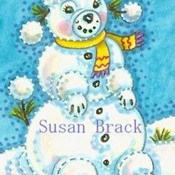 Art: SNOW POODLE by Artist Susan Brack