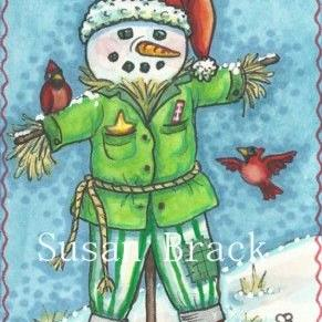 Art: FROSTY THE SCARECROW by Artist Susan Brack