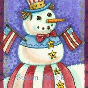 Art: STARS N' STRIPES WINTER by Artist Susan Brack