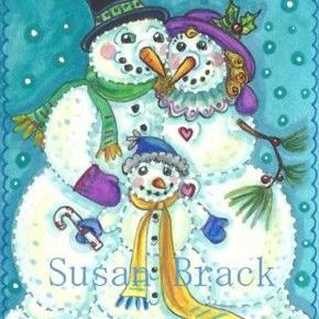 Art: SNOW FAMILY by Artist Susan Brack
