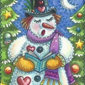 Art: SNOWMAN CAROLS by Artist Susan Brack