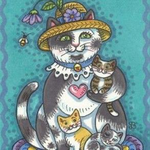 Art: PUSSYCAT KITTENS by Artist Susan Brack