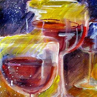 Art: Wine Glass' by Artist Delilah Smith