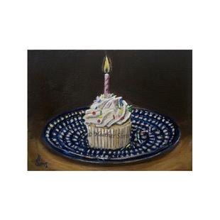 Art: Cupcake: Polish Pottery LXVIII by Artist Heather Sims