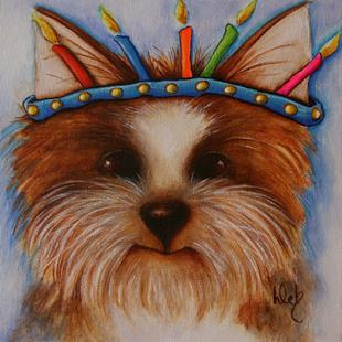Art: It's My Birthday! by Artist Deb Harvey