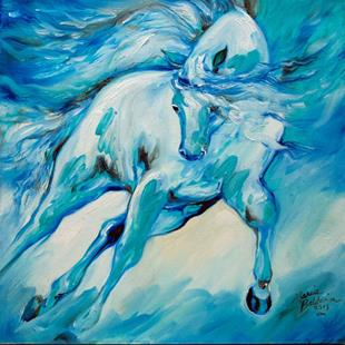 Art: AZURE RUN EQUINE by Artist Marcia Baldwin