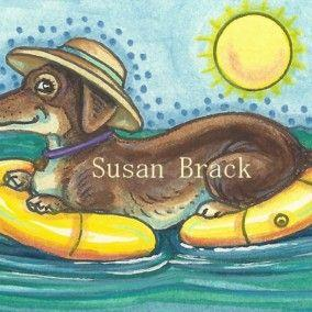 Art: DOXIE A FLOAT by Artist Susan Brack