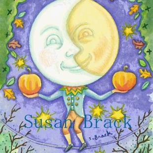 Art: HALLOWEEN TRICKS by Artist Susan Brack
