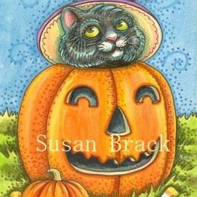 Art: HALLOWEEN KITTEN by Artist Susan Brack