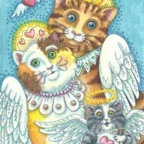 Art: PURRS IN HEAVEN by Artist Susan Brack