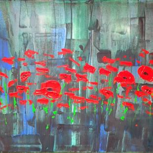 Art: Red Poppies 139 (a) by Artist Luba Lubin