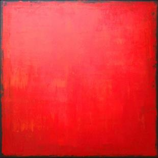 Art: Red Abstraction 140 (a) by Artist Luba Lubin