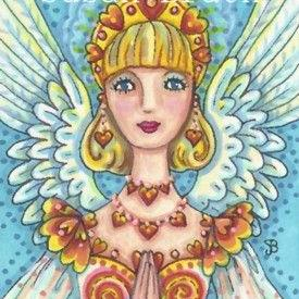Art: ANGEL OF FLAMING HEARTS by Artist Susan Brack