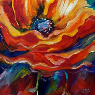Art: WILD POPPY ABSTRACT by Artist Marcia Baldwin