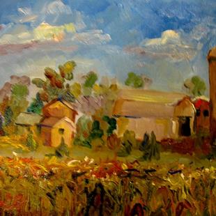 Art: Corn Field No. 2 by Artist Delilah Smith