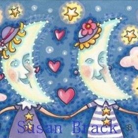 Art: THE MOON SISTERS by Artist Susan Brack