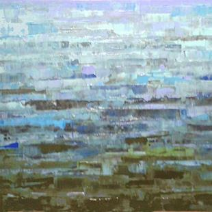 Art: Blue Abstraction 144 (s) by Artist Luba Lubin