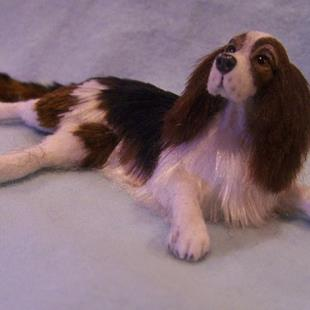 Art: custom springer spaniel 009 by Artist Camille Meeker Turner