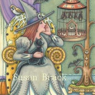 Art: BAT WHISPERER by Artist Susan Brack