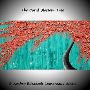 Art: The Coral Blossom Tree (sold) by Artist Amber Elizabeth Lamoreaux
