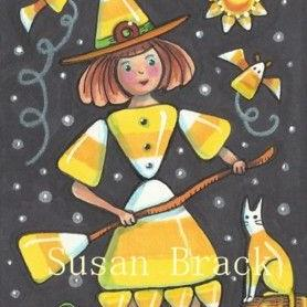 Art: WITCHES DREAM IN CANDY CORN COLORS by Artist Susan Brack