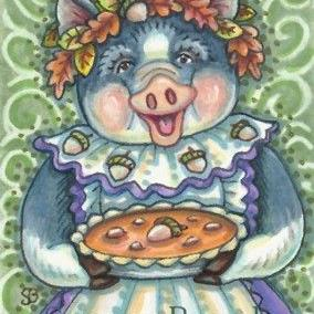 Art: LOVE IS AN ACORN AND SQUASH PIE by Artist Susan Brack