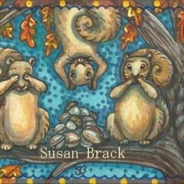 Art: SQUIRRELS SEE NO EVIL by Artist Susan Brack