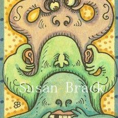Art: MONSTERS SEE NO EVIL by Artist Susan Brack