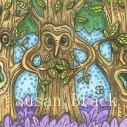 Art: TREES IN THE FOREST SEE NO EVIL by Artist Susan Brack