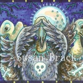 Art: VULTURES SEE NO EVIL by Artist Susan Brack