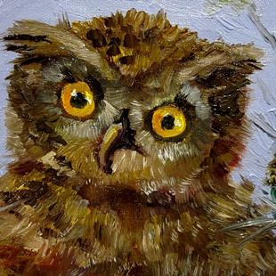 Art: Owl-sold by Artist Delilah Smith