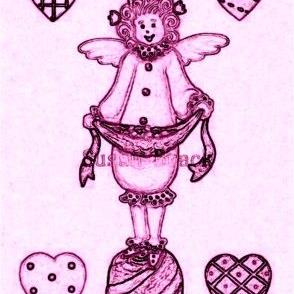 Art: WHIMSICAL ANGEL CANDY - Stamp by Artist Susan Brack