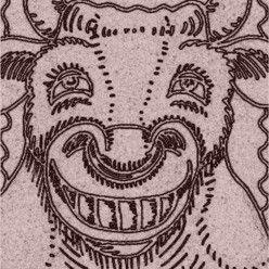 Art: SMILES ARE FREE BULL - Stamp by Artist Susan Brack