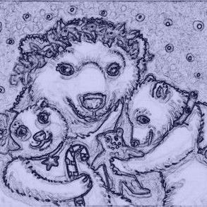 Art: A POLAR BEAR CHRISTMAS - Stamp by Artist Susan Brack