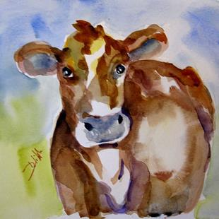 Art: Brown Cow_SOLD by Artist Delilah Smith