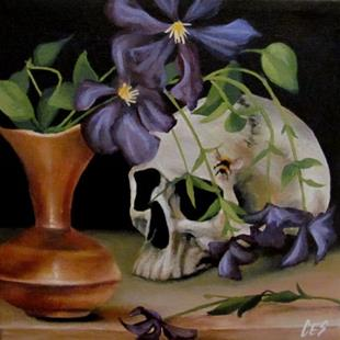 Art: Clematis Vanitas by Artist Christine E. S. Code ~CES~
