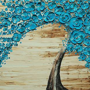 Art: The Water Blossom Tree (sold) by Artist Amber Elizabeth Lamoreaux