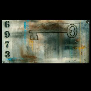 Art: abstract 419 2448 Original Abstract Art Key To Success by Artist Thomas C. Fedro