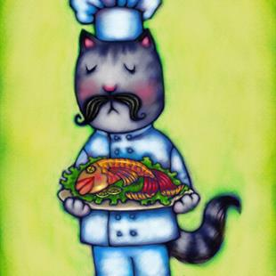 Art: Seafood Chef by Artist Carmen Medlin