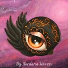 Art: Day of the dead baby crow by Artist