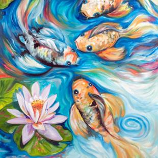 Art: DANCING KOI 2418 by Artist Marcia Baldwin
